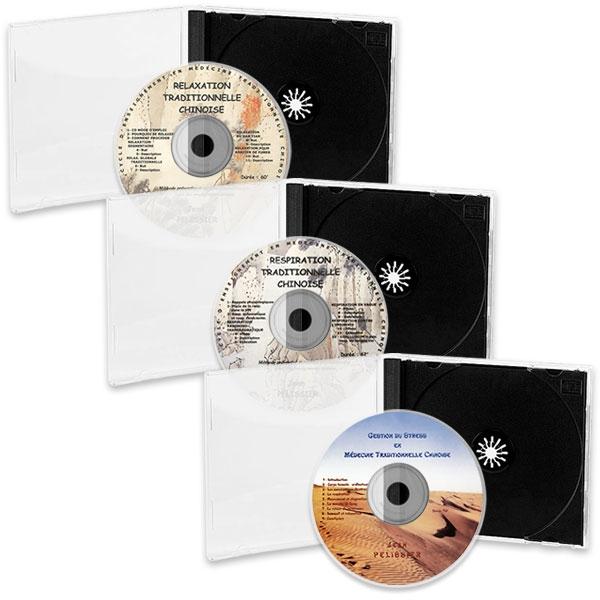 Pack 3 CD de MTC : Relaxation, Respiration et Gestion du Stress, réalisé par Jean Pélissier.