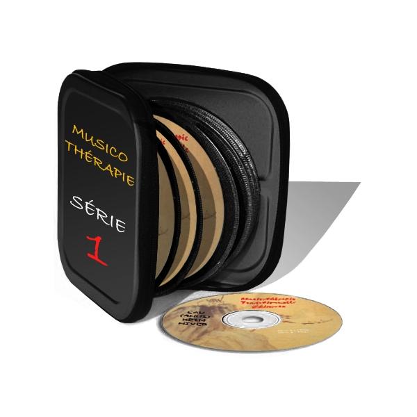 Coffret de Musicothérapie de MTC en 6 CD (série 1), réalisé par Jean Pélissier.