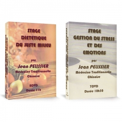 Pack 2 coffrets Stages MTC : Diététique du Juste Milieu et Gestion du Stress et des Emotions  à la vente, medecine traditionnelle chinoise.
